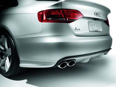 2012 Audi A4 Rear Diffuser with Aluminum-look Blade  8K0-071-620-A-3Q7