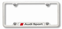 2007 Audi A3 License Plate Frame with Audi Sport Logo - Po ZAW-355-030