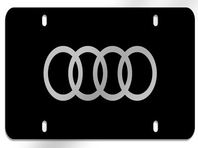 2015 Audi RS7 Vanity Plate, Polycarbonate Audi Rings, bl ZAW-072-850-A