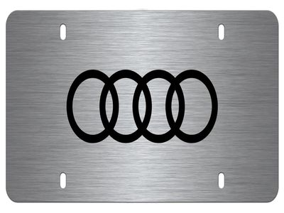 2015 Audi RS7 Laser-etched Audi Rings Vanity Plate, br ZAW-072-850-XZ2