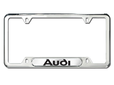 2016 Audi A8 License Plate Frame with Audi Logo - Polished ZAW-355-016