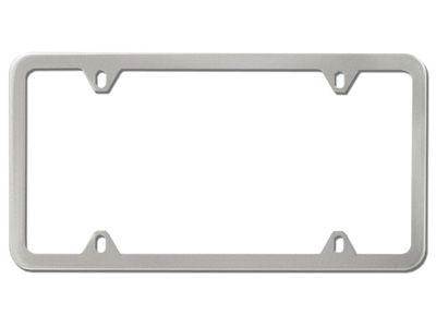 1999 Audi A4 Slim Line License Plate Frame - Brushed ZAW-355-020