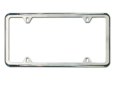 2008 Audi R8 Slim Line License Plate Frame - Polished ZAW-355-022