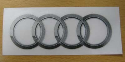 2014 Audi A7 Rings - Sticker