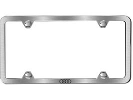 2017 Audi TT Slim Line License Plate Frame - Brushed ZAW-071-801-D