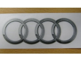 2014 Audi RS7 Iconic Four Rings Decal - Silver